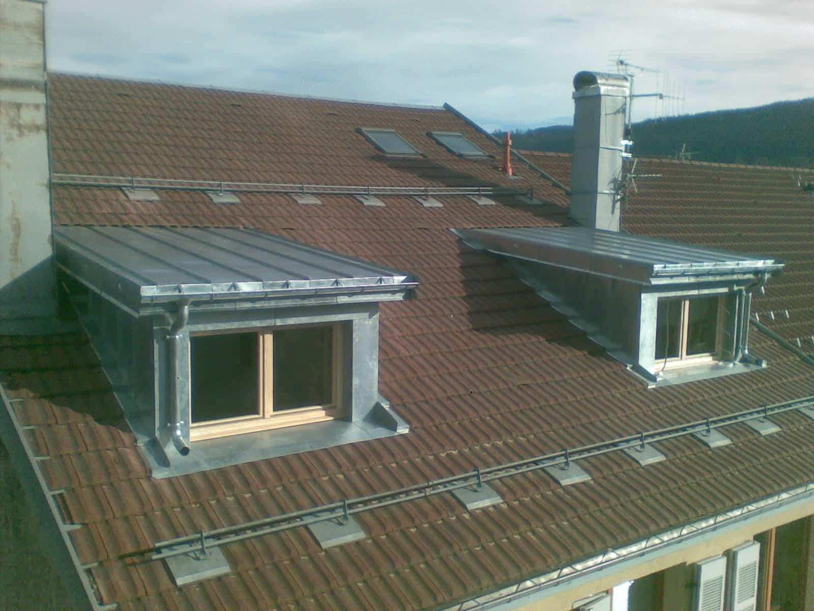 Surélévation-ossature bois-couverture-zinc -joint debout