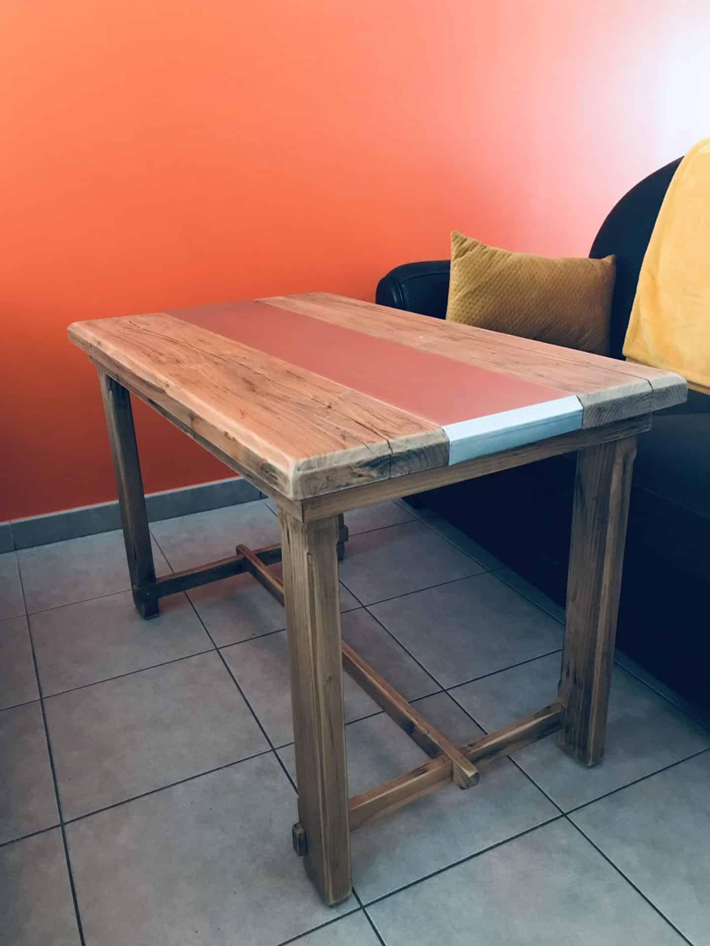 table basse-bois-zinc-eclectikbois